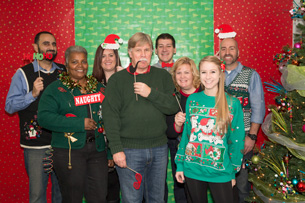 MACK Companies ugly Christmas sweater contest